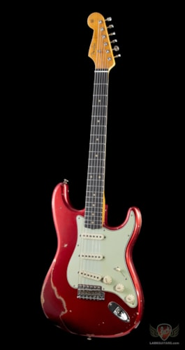 Fender Custom Shop Namm 2019 Limited Edition, '59 Stratocaster, Relic, Reverse Headstock - Candy Apple Red Over Red Sparkle
