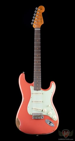2019 Fender Custom Shop Namm  Limited Edition, 1959 Stratocaster, Heavy Relic - Faded Aged Tahitian Coral (697)