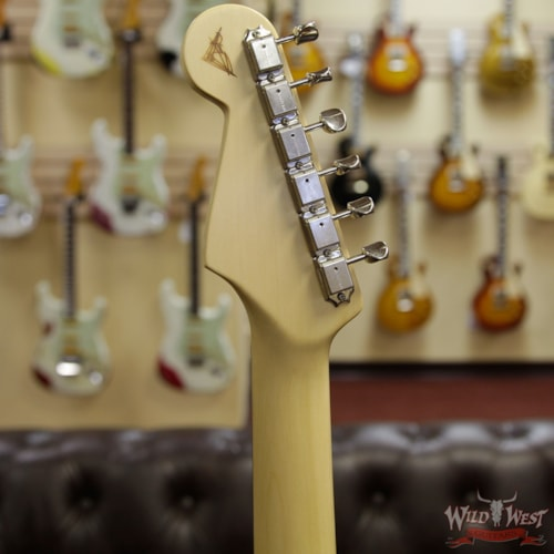 2019 Fender Custom Shop Yuriy Shishkov Masterbuilt Airfield Stratocaster Closet Classic Reclaimed Redwood from Hangar One Zeppelin Storage Natural