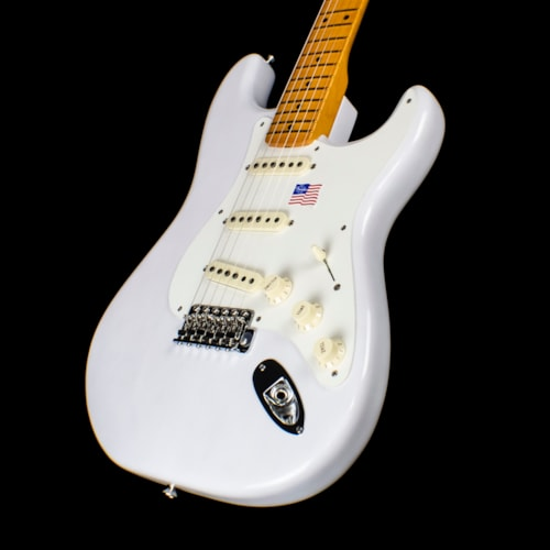 2019 Fender Eric Johnson Stratocaster White Blonde with Maple Fingerboard (2478)
