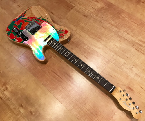2019 Fender Jimmy Page Telecaster Natural w/ Artwork Electric Guitar