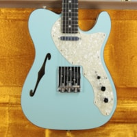 2019 Fender LIMITED EDITION American Telecaster Thinline USA Two-Tone Tele Daphne Blue Custom Shop Nocaster Pups!
