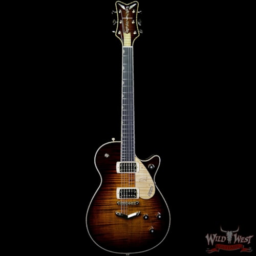 2019 Gretsch USA Custom Shop Masterbuilt Gonzalo Madrigal G6134 '59 Penguin Flame Maple Top Tiger Eye Stain Tiger Eye Stain