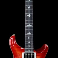 2019 PRS - Paul Reed Smith PRS Wood Library 10 Top Custom 24 Flame Maple Top Brazilian Rosewood Fingerboard Blood Orange