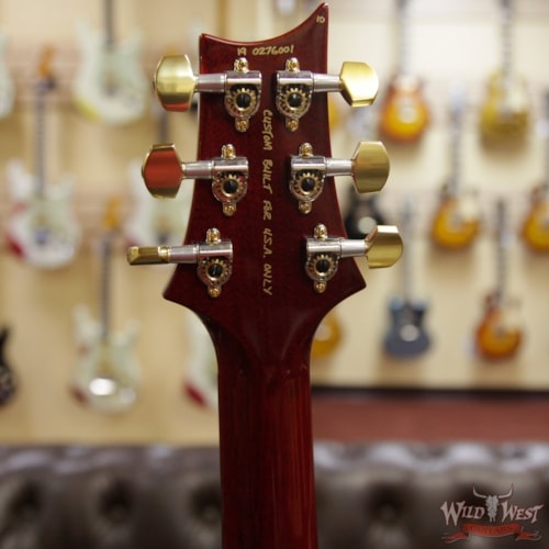 2019 PRS - Paul Reed Smith PRS Wood Library 10 Top Custom 24 Fatback Flame Maple Top Brazilian Rosewood Fingerboard Blood Orange Blood Orange