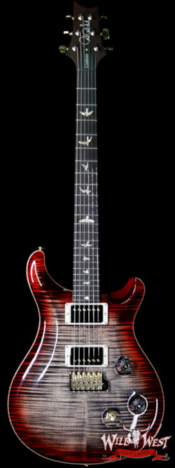 2019 PRS - Paul Reed Smith PRS Wood Library 10 Top Custom 24 Flame Maple Top Brazilian Rosewood Fingerboard Charcoal Cherry Burst