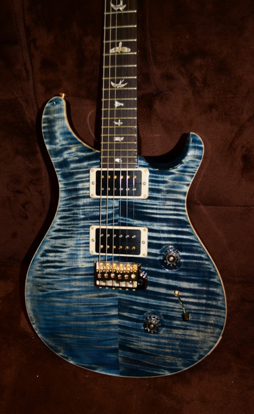 2019 prs custom 24 10 top faded whale blue guitars electric solid body wolfe guitars. Black Bedroom Furniture Sets. Home Design Ideas