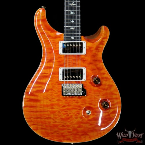2019 PRS - Paul Reed Smith Paul Reed Smith PRS Wood Library 10 Top Custom 24 Quilt Maple Top Ebony Fingerboard Orange Orange