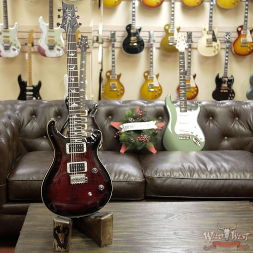 2019 PRS - Paul Reed Smith Paul Reed Smith PRS CE 24 Flame Top Painted Black Neck Angry Larry Angry Larry