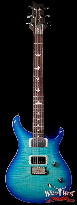 2019 PRS - Paul Reed Smith Paul Reed Smith PRS Wild West Guitars Special Run CE 24 Flame Top Painted Neck 57/08 Pickups Makena Blue 285284