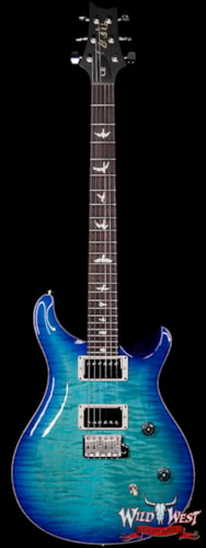 2019 PRS - Paul Reed Smith Paul Reed Smith PRS Wild West Guitars Special Run CE 24 Flame Top Painted Neck 57/08 Pickups Makena Blue 286717 Makena Blue