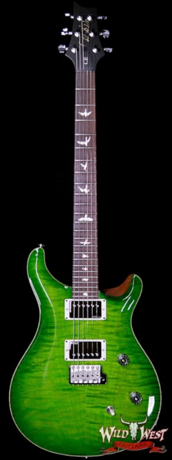 2019 PRS - Paul Reed Smith Paul Reed Smith PRS Wild West Guitars Special Run CE 24 Flame Top Painted Neck 57/08 Pickups Eriza Verde 285217