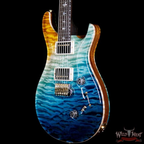 2019 PRS - Paul Reed Smith PRS Private Stock #7472 Custom 24-08 Quilt Top & Back Brazilian Rosewood Neck Beach Cross Fade Beach Cross Fade