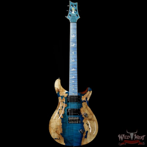 2019 PRS - Paul Reed Smith PRS Private Stock #8129 Custom 24 l Flame / Spalted Maple Flame Neck and Board Faded Aquamarine Faded Aquamarine