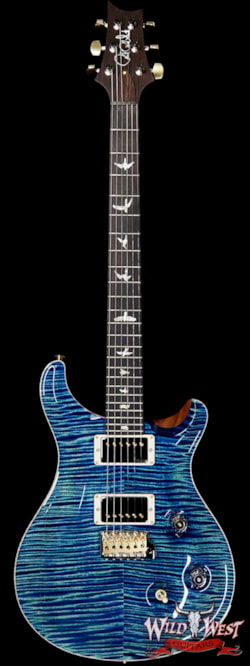 2019 PRS - Paul Reed Smith PRS Wild West Guitars 20th Anniversary Limited Run # 38 of 40 Wood Library Artist Package Custom 24 Brazilian Rosewood Fingerboard River Blue