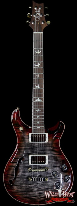 2019 PRS - Paul Reed Smith PRS Wild West Guitars 20th Anniversary Limited Run # 24 of 40 Wood Library Artist Package Semi-Hollow McCarty 594 Charcoal Cherry Burst