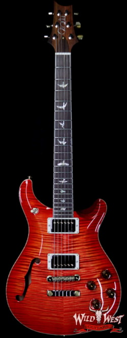 2019 PRS - Paul Reed Smith PRS Wild West Guitars 20th Anniversary Limited Run # 22 of 40 Wood Library Artist Package Semi-Hollow McCarty 594 Blood Orange