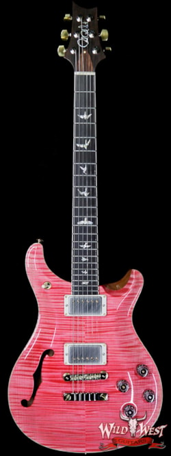 2019 PRS - Paul Reed Smith PRS Wild West Guitars 20th Anniversary Limited Run # 28 of 40 Wood Library Artist Package Semi-Hollow McCarty 594 Bonnie Pink