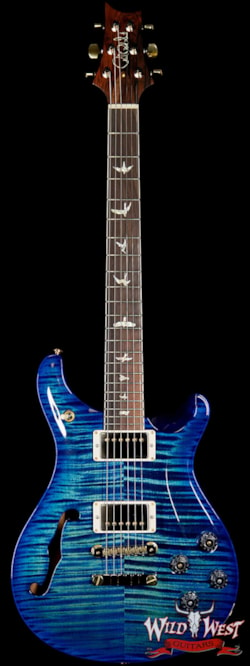 2019 PRS - Paul Reed Smith PRS Wild West Guitars 20th Anniversary Limited Run # 29 of 40 Wood Library Artist Package Semi-Hollow McCarty 594 River Blue Burst