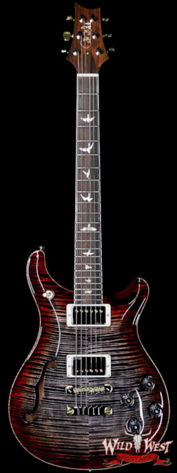 2019 PRS - Paul Reed Smith PRS Wild West Guitars 20th Anniversary Limited Run # 23 of 40 Wood Library Artist Package Semi-Hollow McCarty 594 Charcoal Cherry Burst