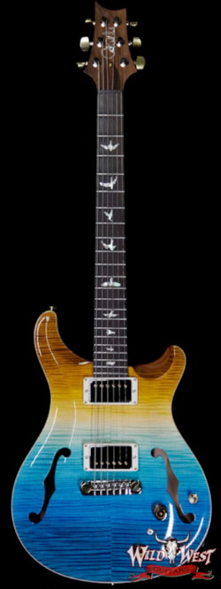 2019 PRS - Paul Reed Smith PRS Wild West Guitars 20th Anniversary Limited Run # 3 of 40 Wood Library Artist Package Hollowbody I Piezo HB1 Beach Cross Fade(Private Stock Color)