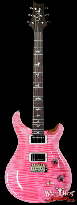 2019 PRS - Paul Reed Smith PRS Wild West Guitars 20th Anniversary Limited Run # 34 of 40 Wood Library Artist Package Custom 24 Flame Maple Neck Bonnie Pink