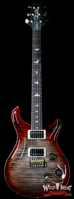 2019 PRS - Paul Reed Smith PRS Wood Library 10 Top Custom 24 Flame Maple Top Brazilian Rosewood Board Charcoal Cherry Burst