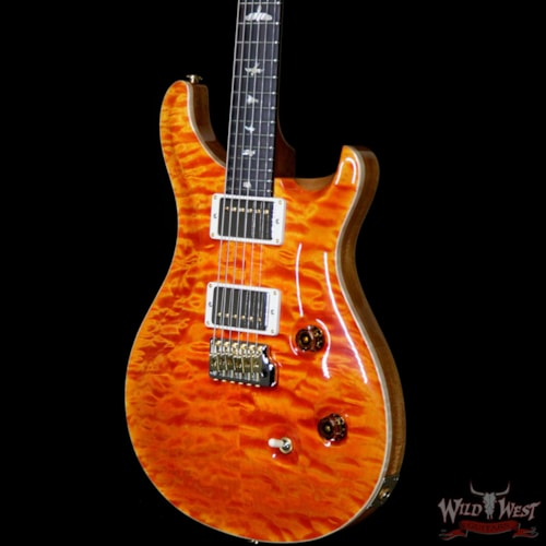 2019 PRS - Paul Reed Smith PRS Wood Library 10 Top Custom 24 Quilt Maple Top Brazilian Rosewood Fingerboard Orange Orange