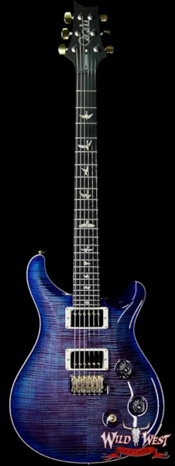 2019 PRS - Paul Reed Smith PRS Wood Library 10 Top Custom 24 Flame Maple Top Brazilian Rosewood Board Violet Blue Burst