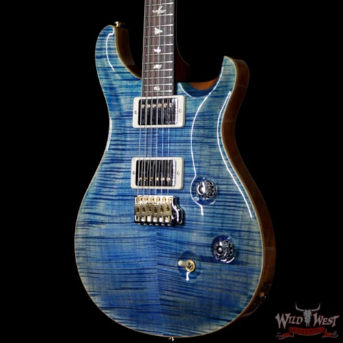 2019 PRS - Paul Reed Smith PRS Wood Library 10 Top Custom 24 Fatback Flame Maple Top Brazilian Rosewood Fingerboard Faded Blue Jean Faded Blue Jean