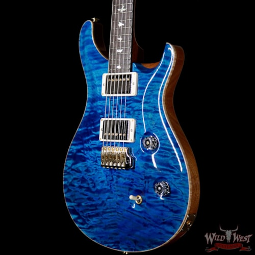 2019 PRS - Paul Reed Smith PRS Wood Library 10 Top Custom 24 Quilt Maple Top Brazilian Rosewood Board Aquamarine Aquamarine