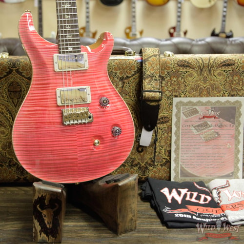 2019 PRS - Paul Reed Smith PRS Wild West Guitars 20th Anniversary Limited Run # 37 of 40 Wood Library Artist Package Custom 24 Brazilian Rosewood Fingerboard Bonnie Pink Bonnie Pink