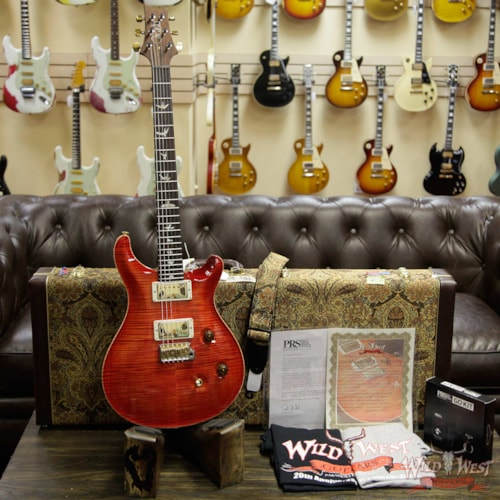 2019 PRS - Paul Reed Smith PRS Wild West Guitars 20th Anniversary Limited Run # 36 of 40 Wood Library Artist Package Custom 24 Brazilian Rosewood Fingerboard Blood Orange Blood Orange