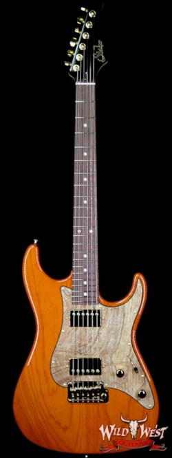 2019 Suhr Standard HH Swamp Ash Body Spalted Maple Pickguard Rosewood Fingerboard Trans Orange