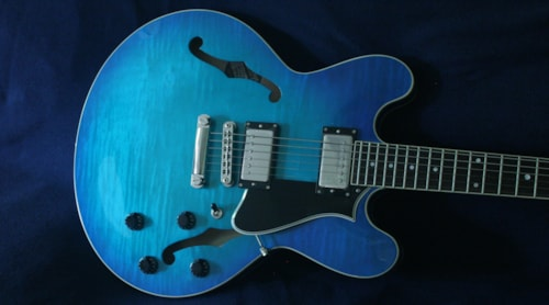 2020 Heritage H-535 Custom Color Neptune Blue Burst