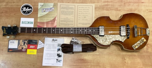 2020 Hofner 500/1 '63-RLC Violin Bass Vintage Finish Lefty