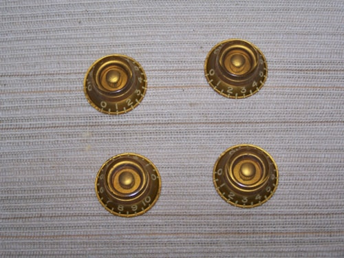 ~1959 Gibson Bonnet Knobs Amber