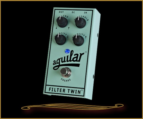 Aguilar Filter Twin Dual Envelope Filter Pedal Blue, Brand New