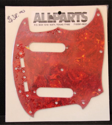 All Parts Mustang Pickguard  Red Tortoise, Brand New, $37.95