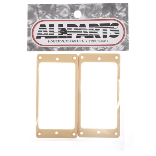 Allparts Humbucker Pickup Rings Flat Slanted - Cream