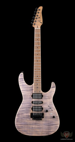 Anderson Guitarworks Tom Anderson Angel 1-Piece Flame Maple on Basswood - Satin Natural Purple