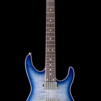 Anderson Guitarworks Tom Anderson Angel Flame Maple on Basswood - Abalone to Deep Ocean Blue Burst