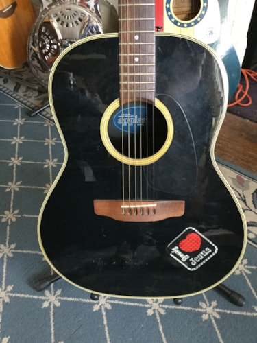 APPLAUSE AA-13 Acoustic Guitar Black, Brand New