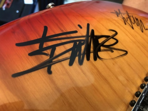 2001 Fender USA Stratocaster HSS Signed by The Rolling Stones w/ Bill Wyman Aged Cherry Burst