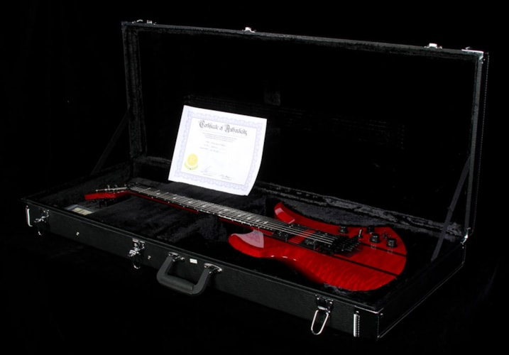 BC Rich B.C. Rich USA Handcrafted Mockingbird SL Electric Guitar Transparent Red