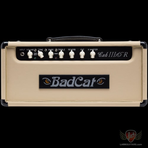 Bad Cat Hand Wired Cub III 15R Head and 1x12 Extension Speaker Cabinet - Cream Embossed Vinyl (423)