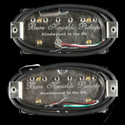 Bare Knuckle Black Dog Humbucker Set Black Battleworn Radiator Brand New
