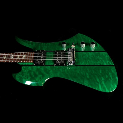 BC Rich Used B.C. Rich USA Mockingbird Electric Guitar Transparent Green Excellent, $2,499.00