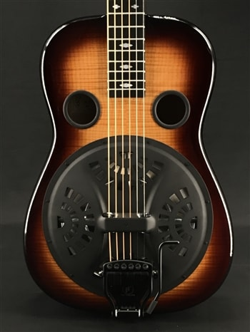 Beard E-Model Squareneck Resonator with Softedge Round Over in Creme Brulee with Doubleshot Bridge and Fishman Electronics