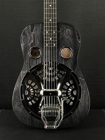 Beard Josh Swift Standard Signature Squareneck Resonator in Black Ice with Doubleshot Bridge